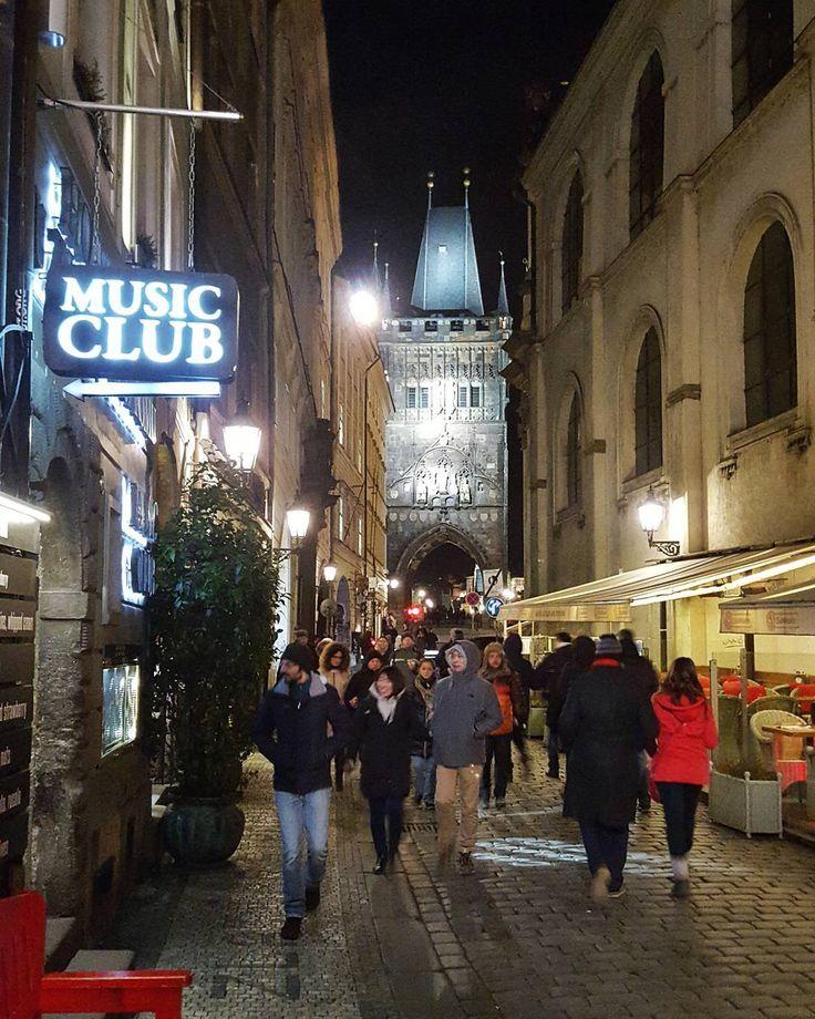 Karlova Street in Prague  #prague #travel #oldtown #karlova #street #streetphotography #walk #night #NightInTheCity #concert #galaxys6