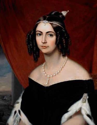 Anônimo - D. Amélia, duquesa de Bragança - Amélia de Leuchtenberg – Wikipédia, a enciclopédia livre
