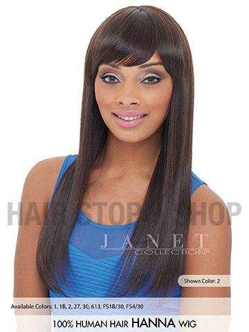 Janet Collection 100% Human Hair Wig - HANNA