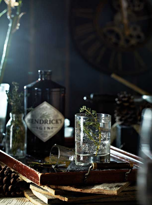 23 Skiddoo: Gin, St. Germain, thyme syrup, lemon, sparkling wine | V.K.Rees Photography