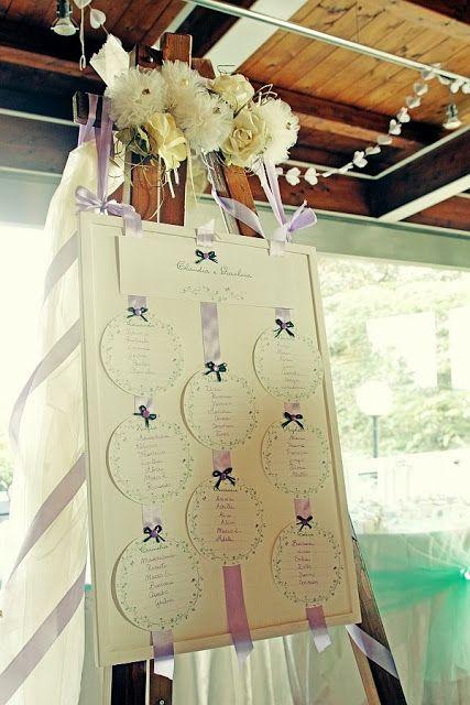 Il mio tableau / My wedding seating chart