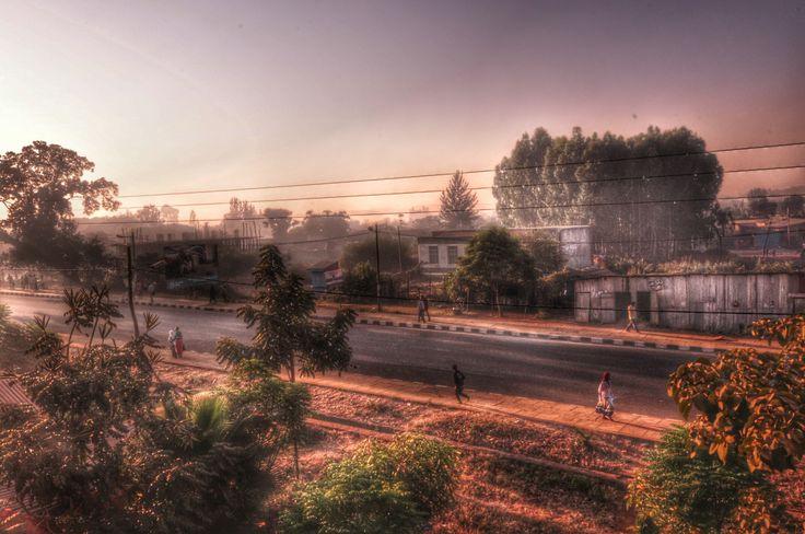 Addis alem street at dawn