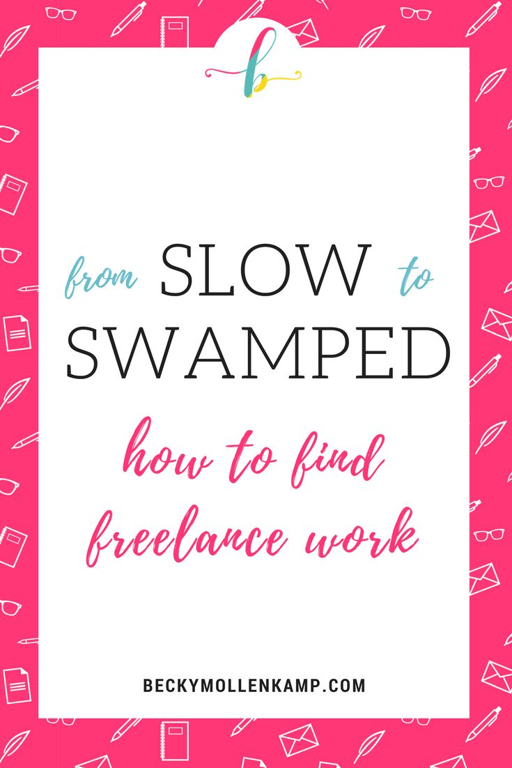Don't let slow times in your freelance business cause you to panic. Find new work fast with these 5 tips for getting new freelance clients from http://www.beckymollenkamp.com