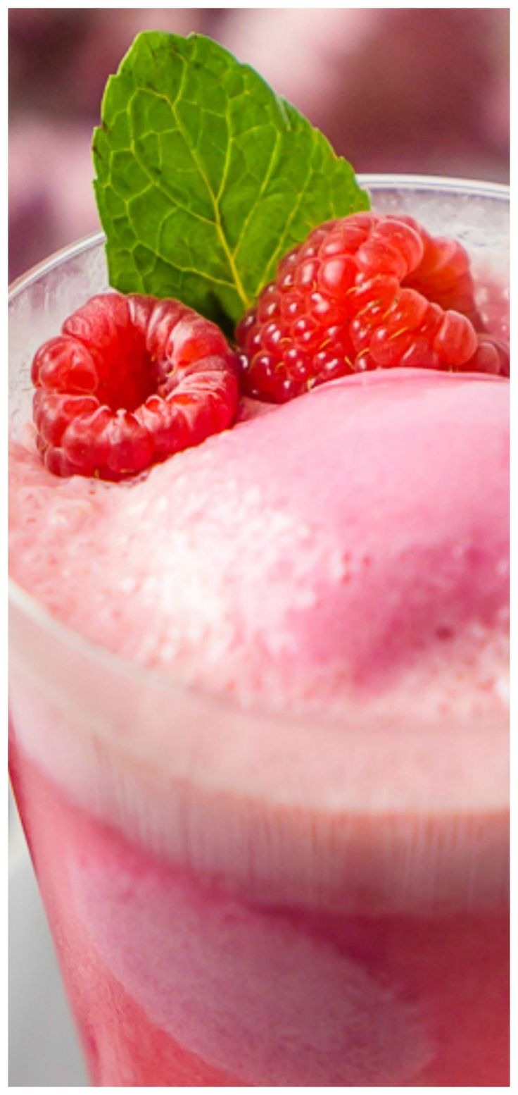 Raspberry Champagne Float Cocktail ~ The perfect dessert recipe and cocktail recipe in one with raspberry sherbet and sparkling wine!! #cocktailrecipes