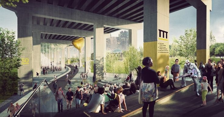 Project: Under Gardiner would transform an elevated highway into a public park space with dozens of uses.