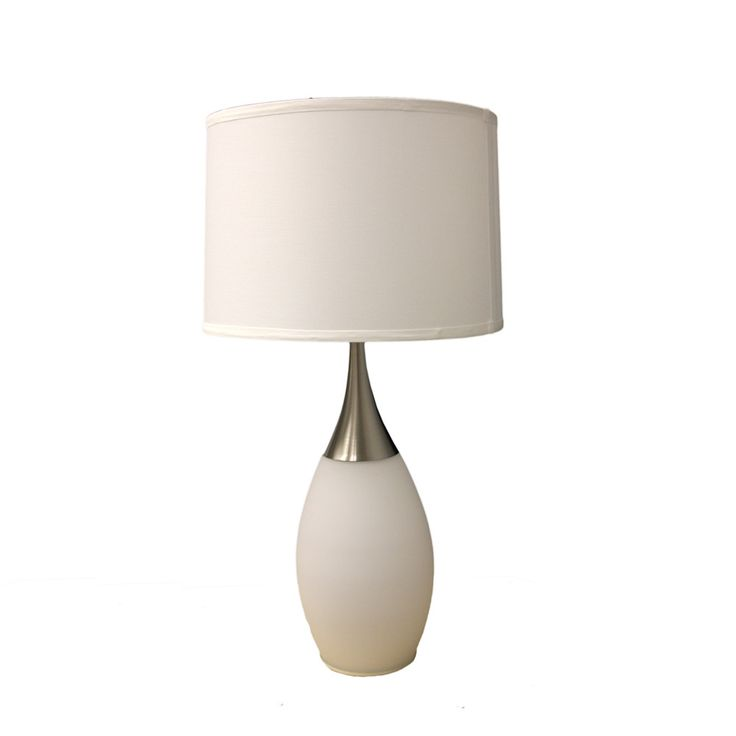 """Modern Night Light 28"""" H Table Lamp with Drum Shade"""