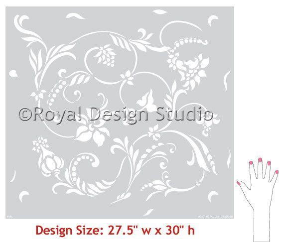 ****have this one****Flower Stencils | Flourish Allover Stencil | Royal Design Studio