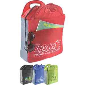 Ideal for the hospitality and tourism industries, this Resort Cooler Tote offers a fitting backdrop for promoting your business or event!