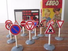 LEGO System 232 Straßenschilder, Verkehrszeichen Originalverpackung, 60er, alt