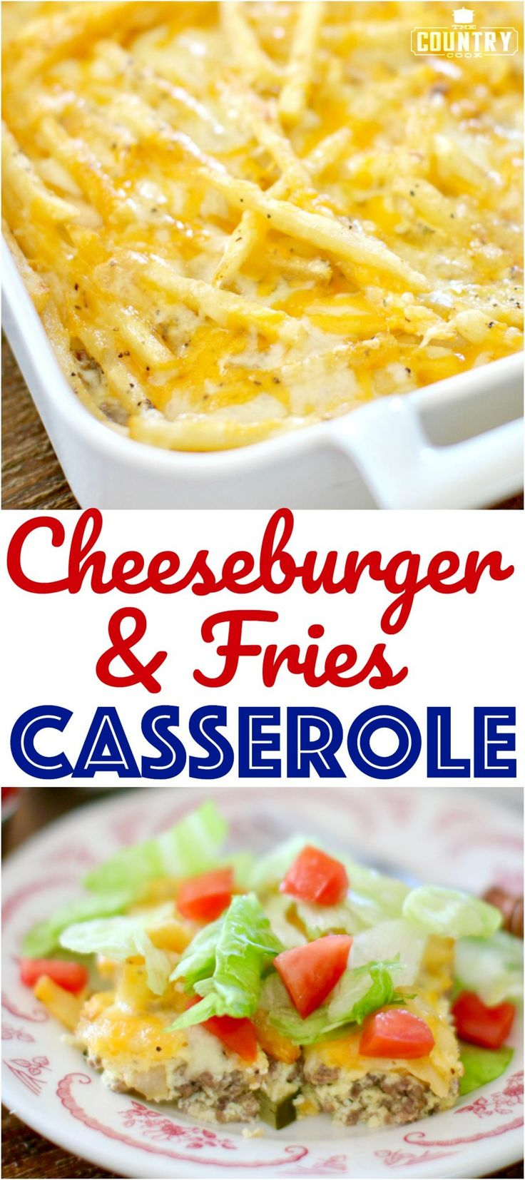 Cheeseburger and Fries Casserole recipe from The Country Cook with @egglandsbest eggs! #ad