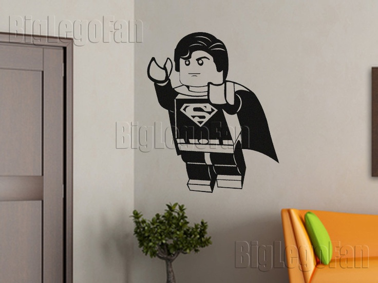Lego Superman wall decal