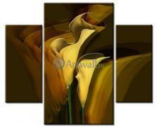 Цветы, Модульная картина «Темные каллы»