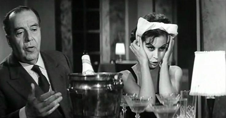 """Magali Noël e Annibale Ninchi in """"La Dolce Vita"""" (1960)"""