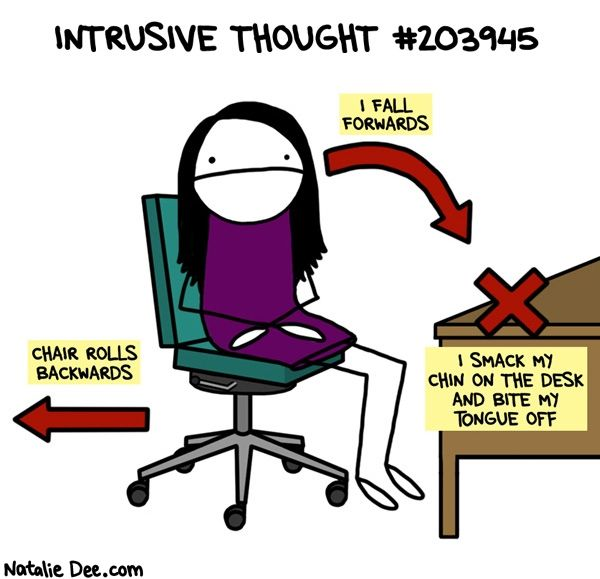 Living With Intrusive Thoughts Just For Fun Comics That Show What