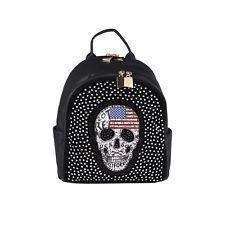 Photo of DEAD HEAD BACKPACK BAG Rhinestones City Backpack Shoulder Bag Handbag: E …