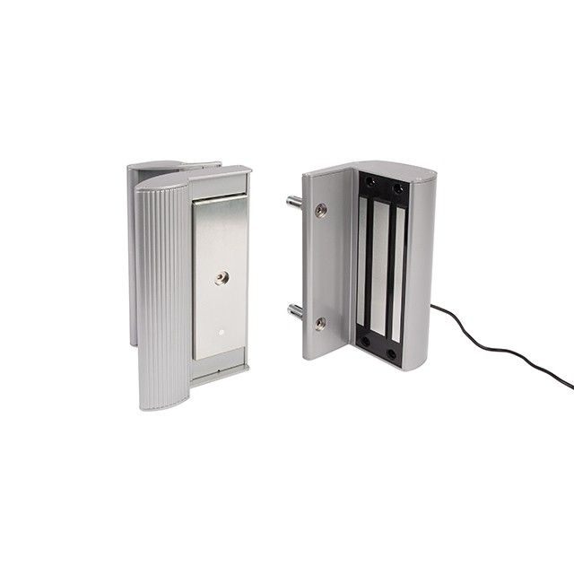 Shop For Electro Magnetic Lock With Handle And 1200 Lbs Pulling Force In Silver Magnetic Lock Gate Hardware Metal Gates