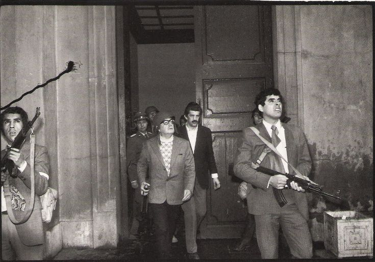 Anonymous. Elected President Salvador Allende moments away from death. September 11 military coup. Santiago, Chile. 1973. [The New York Times].    http://semioticapocalypse.tumblr.com