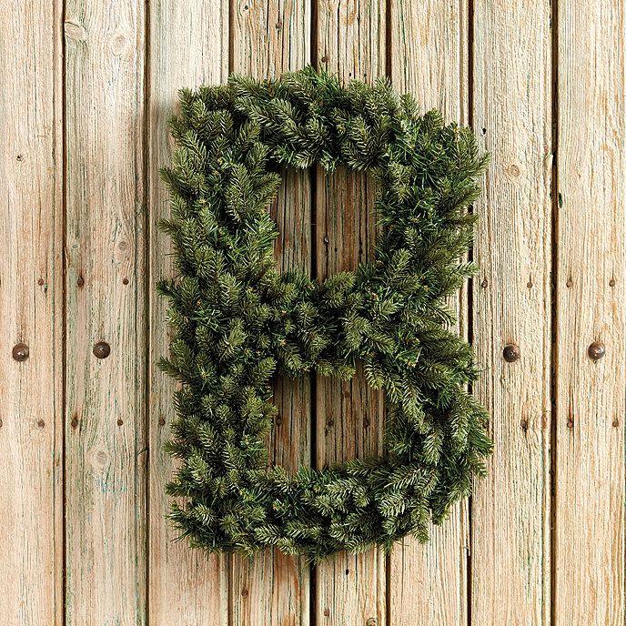 Alphabet Wreath - Ideas for Christmas decorations on doors