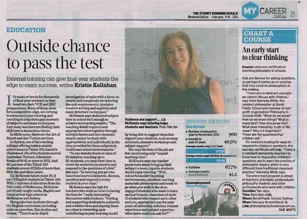 Media: Sydney Morning Herald/       My Career