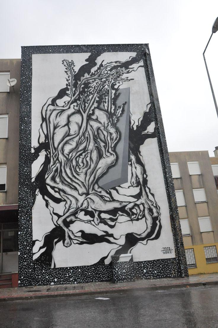 Street Art, Arte Urbana, Graffiti, O Bairro i o Mundo, Quinta do Mocho, Sacavém, Loures, Tosco.