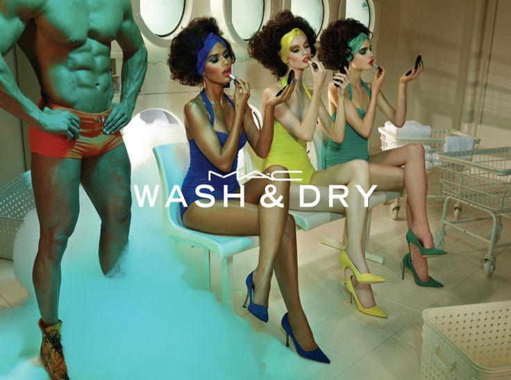 Wash & Dry - MAC Cosmetics @MACcosmetics, 2015 by Miles Aldridge @milesaldridge #composition #motion