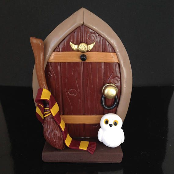Wizard Fairy Door Polymer Clay Wizard and Witch Themed Fairy