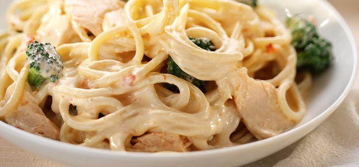 PhiladelphiaChilli Spaghetti with Salmon and Broccoli