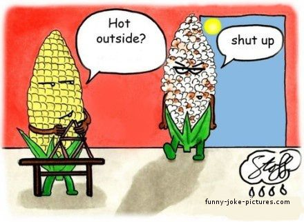 Funny Hot Corn Cartoon Joke Picture                                                                                                                                                     More