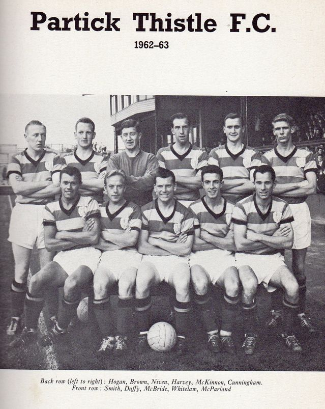 Partick Thistle Team Group In 1962 63 Partick Thistle Retro Football Thistle