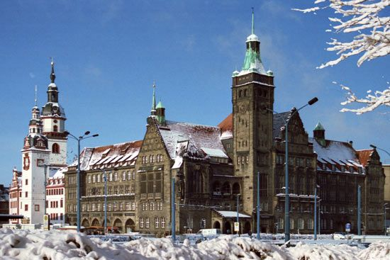 Chemnitz in Germany is located in the foothills of the Ore Mountains is famous for architectures and historical buildings