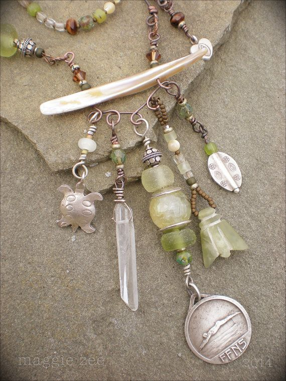 Maggie Zee  River Song Shaman Amulet Necklacejf