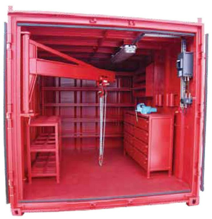17 best images about shop ideas on pinterest welding table tool box and steel racks - Shipping container end welding ...