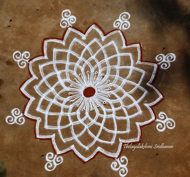39 best images about rangoli design on pinterest floor for Floor rangoli design