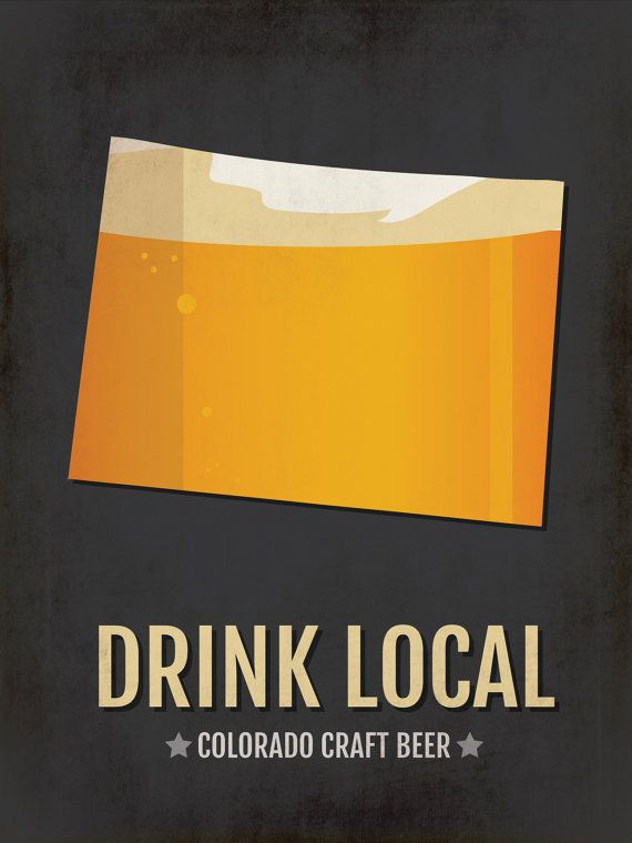 Colorado Beer Print Map – CO Drink Local Craft Beer Sign – Boyfriend Gift, Husband Gifts for Him, Be