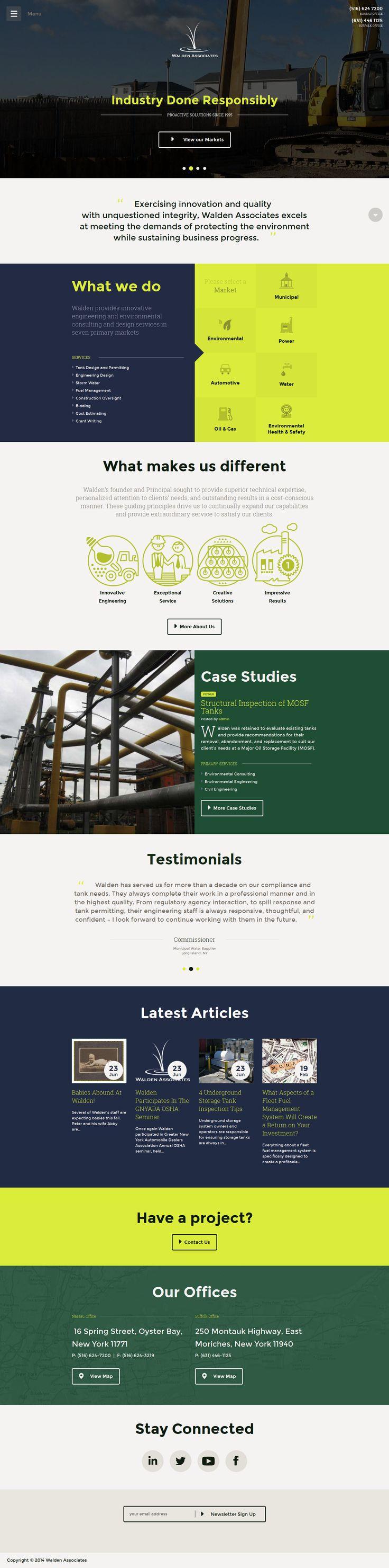 Walden Associates website design and illustration work by www.IsadoraDesign.com