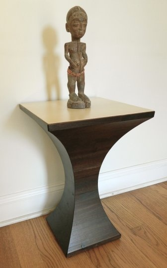 Beautiful accent table from Bill Schick (statue sold separately). http://www.unbrandeddesigns.com/details/Schick-Furniture/Accent-table-2118