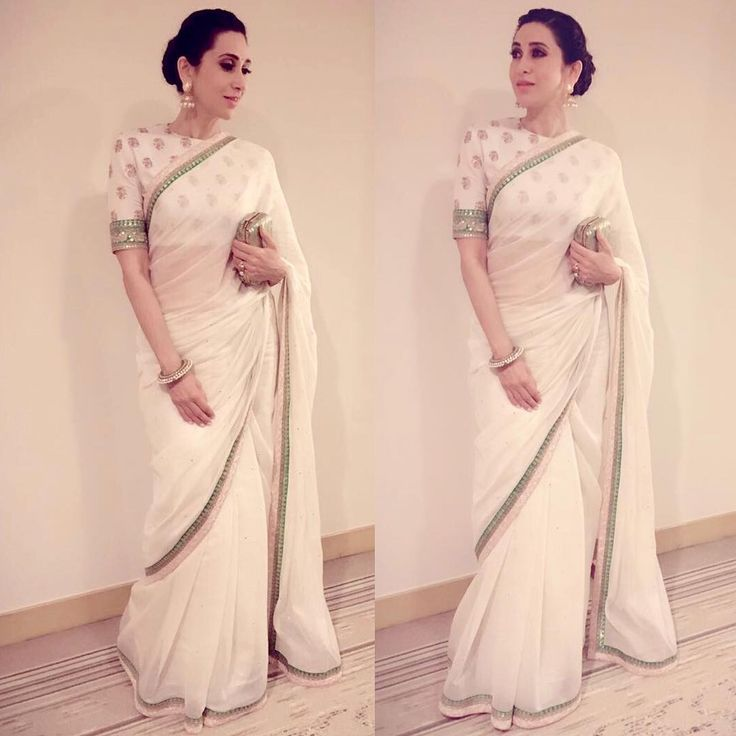 Image result for images of actress wearing chanderi saree