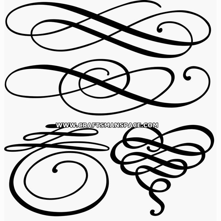 decorative flourishes  free  u0026quot personal use u0026quot  dwg  svg  eps