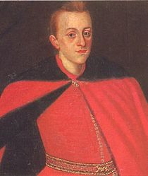 Young Władysław - Władysław, aged 15, was elected Tsar by Muscovy's aristocracy council of Seven boyars, who overthrew tsar Vasily Shuysky during the Polish-Muscovite War and Muscovy's Time of Troubles.[9] His election was ruined by his father, Sigismund, who aimed to convert Muscovy's population from Orthodox religion to Catholicism.