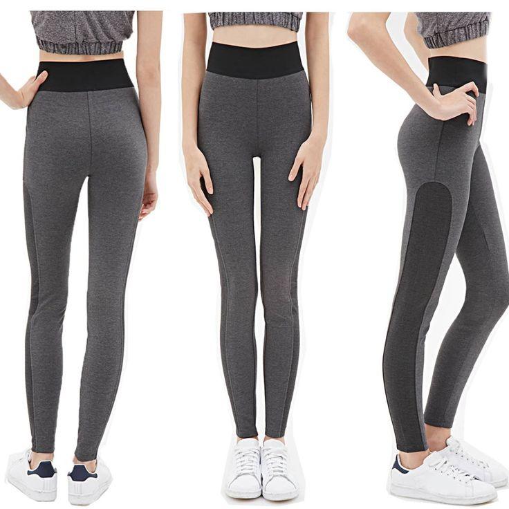 Брюки новый 4 цвет женщины йоги леггинсы спортивные эластичный фитнес сила упражнения колготки женский фитнес тонкий аэробика работает брюки