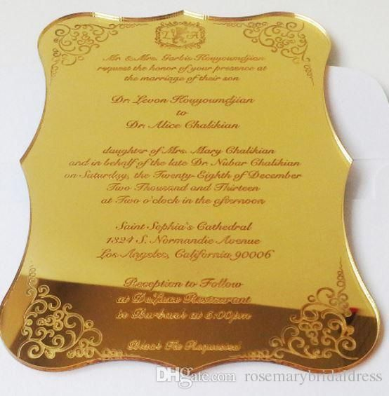 Acrylic Invitation Wedding Fantastic Business Invitation Card Wedding Supplies Custom Plexiglass Wedding/New Event Commemorative Card Wedding Accessories Wedding Invitationgs Card Supplies Online with $182.86/Piece on Rosemarybridaldress's Store | DHgate.com