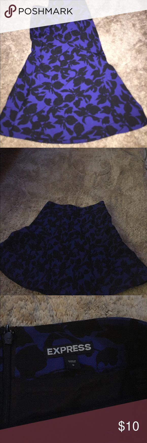 Express mini peplum skirt size 0 Beautiful express skirt size 0 in exceptional shape Express Skirts Mini