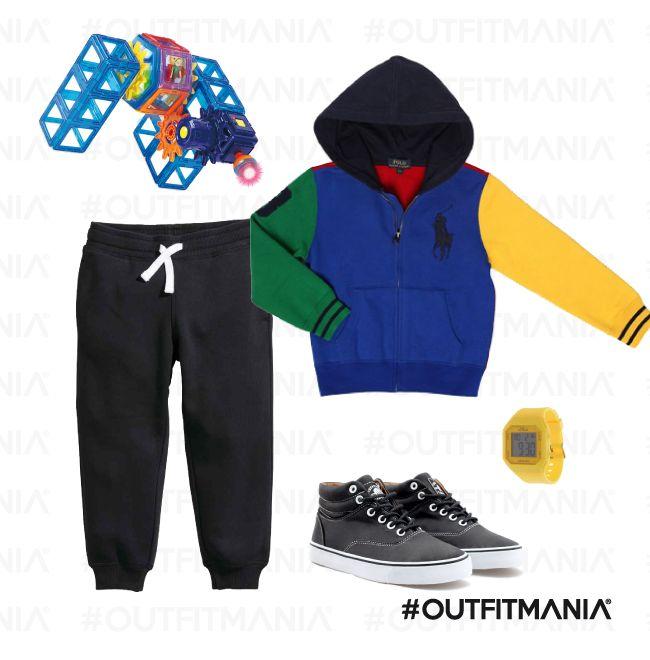 It's Time to Play | Felpa a blocchi di colore con un comodo pantalone jogging e sneakers in pelle... | #outfitmania #outfit #style #fashion #dresscode #amazing #RalphLaurenChildrenswear #zara #panata #child #felpa #H&M | CLICCA SULLA FOTO PER SCOPRIRE L'OUTFIT E COME ACQUISTARLO