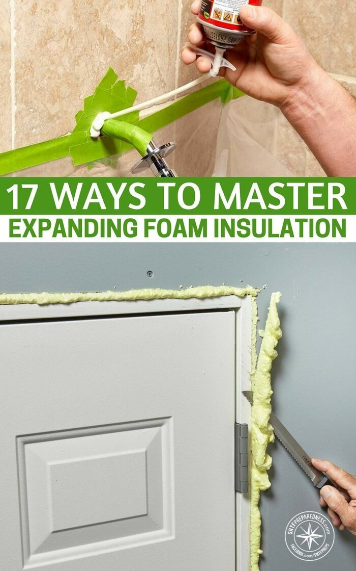 17 Ways to Master Expanding Foam Insulation - Now's the time to work on insulating your home before the temperatures dip down too low. Insulating gaps now is one of the best ways to ensure you're not letting heat out or cold air in this winter. Your furnace will thank you and so will your wallet when the heating bill comes! #diy #frugal #homereno