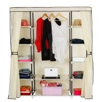 Since movable wardrobe closets are portable you can easily disassemble them and take them with you wherever you move.  They are lightweight, most of them made of non-woven fabric, meaning a breathable material. They come with roller shutter or zipper, so you can close them when guests are over or just to keep your clothes dust free and your tiny home orderly and nice. See more at Little Big Life.