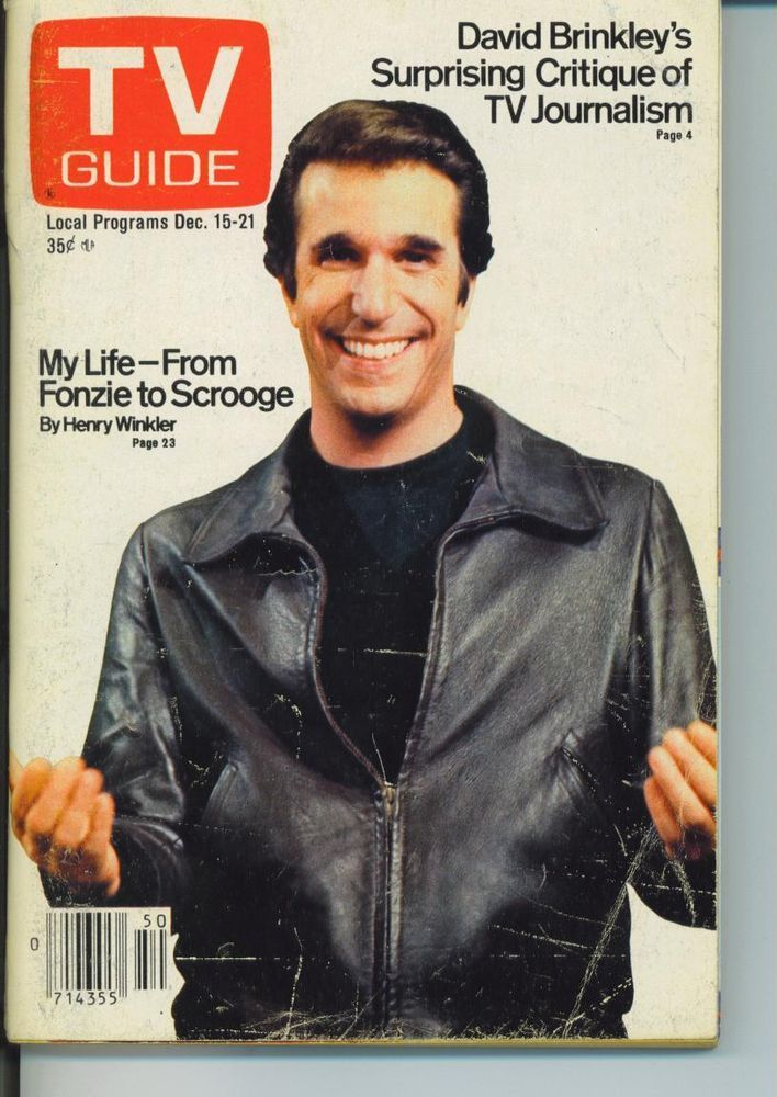 CHICAGO TV GUIDE 12-15-1979 JOAN PRATHER~HENRY WINKLER~POPEYE~DAVID BRINKLEY
