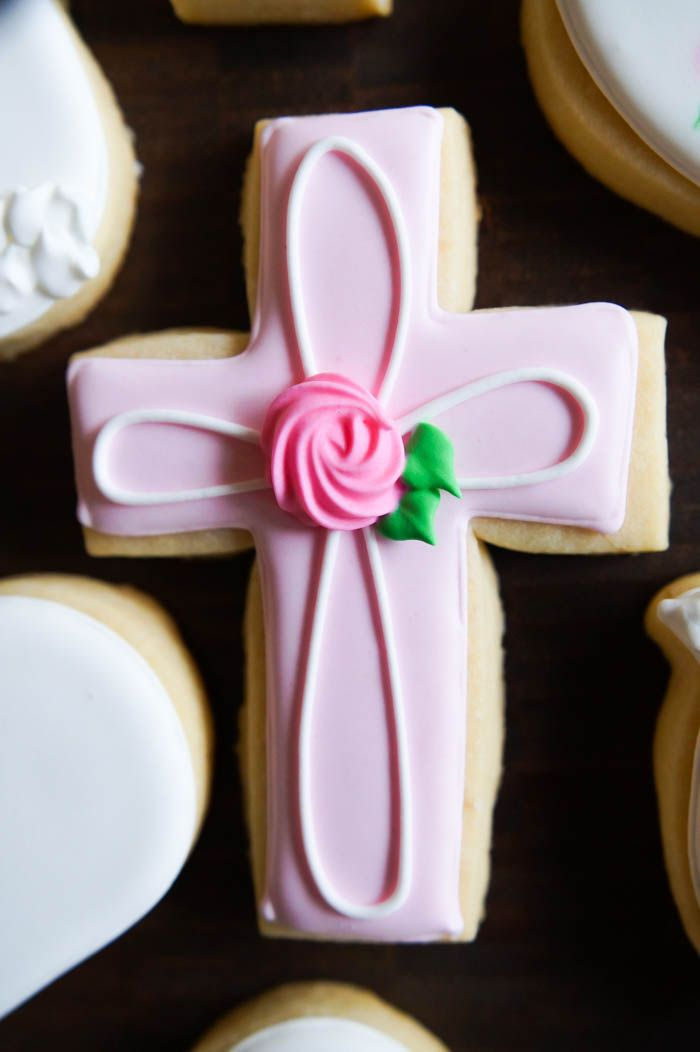 decorated baptism cookies