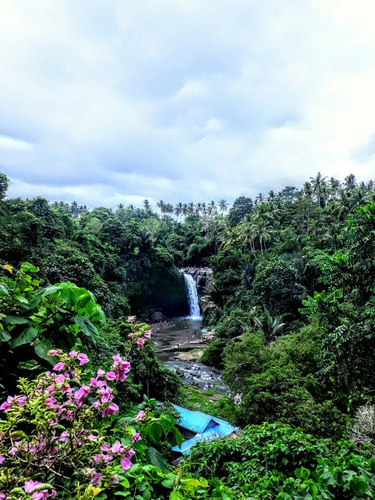 Tegenungan waterfall in kemenuh village gianyar regency