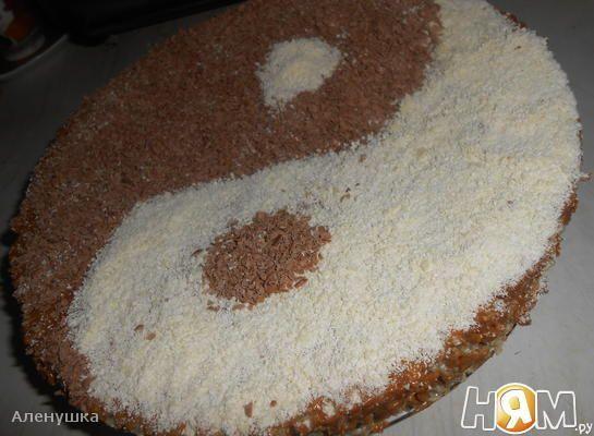 Торт с зимним домиком