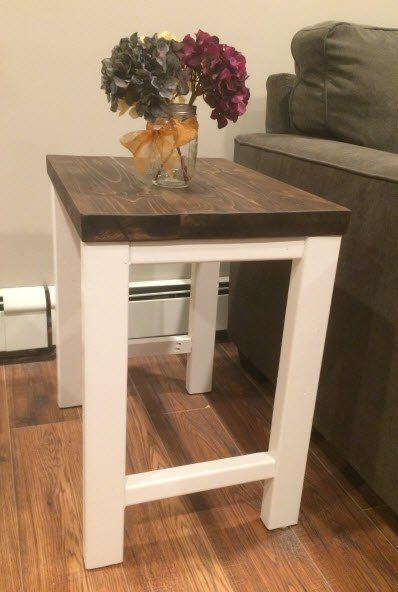 pottery barn inspired end table, outdoor living, painted furniture